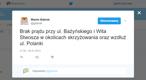 Brak prądu Gdańsk