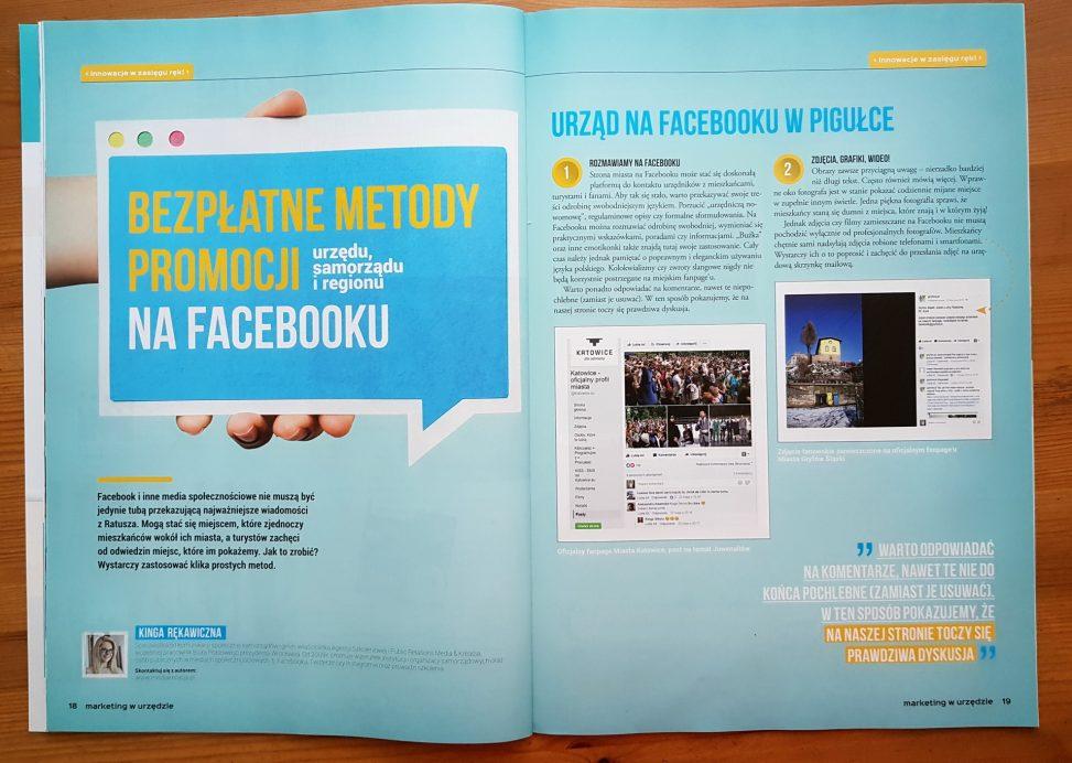 Bezpłatne metody promocji urzędu, samorządu i regionu na Facebooku